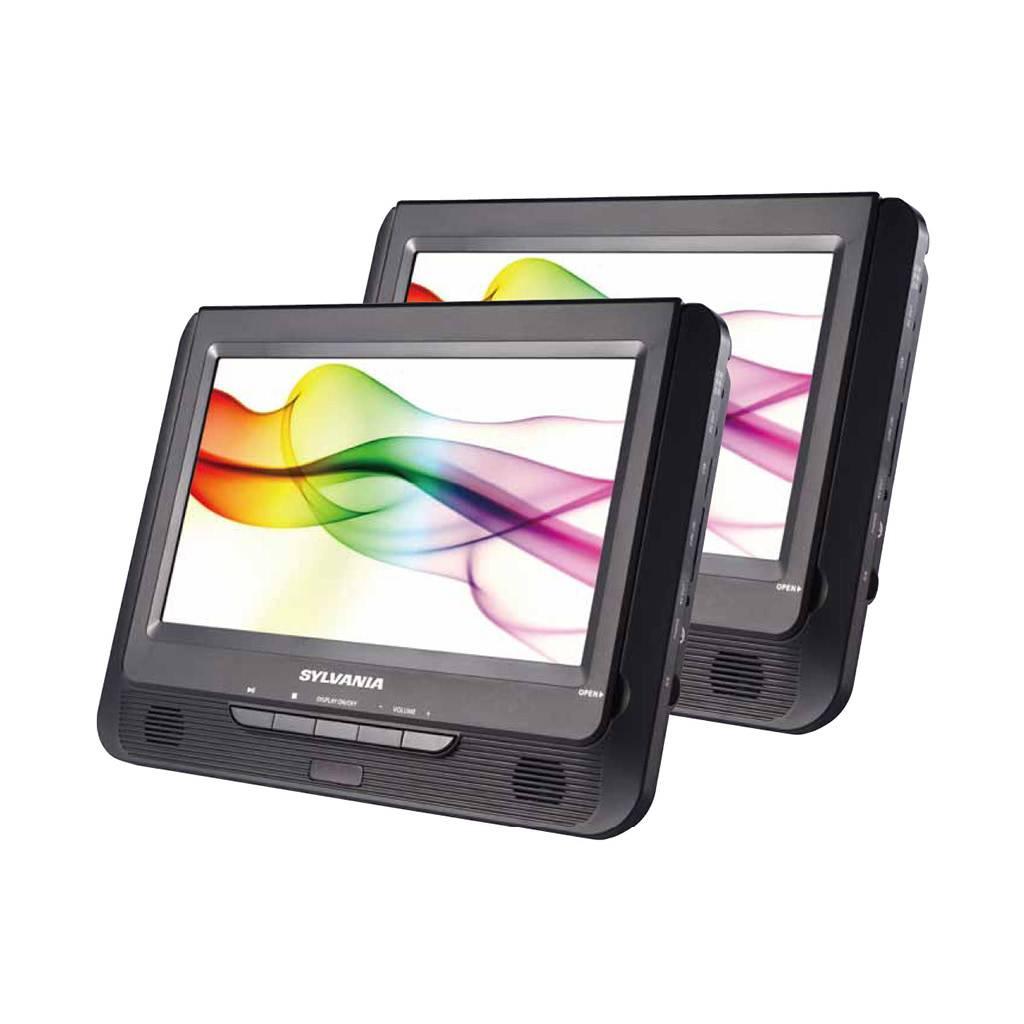 """Sylvania SDVD9960 9"""" Dual Screen Portable DVD Player"""