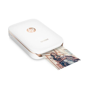 HP Sprocket Photo Printer (2x3-in Photo) BUNDLE with 80 Sheets of ZINK Zero Photo Paper