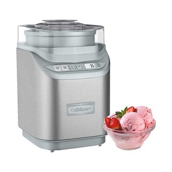 ICE-70C Gelato, Ice Cream and Sorbet Maker - Silver (Manufacturer Refurbished / 6 Month Warranty)