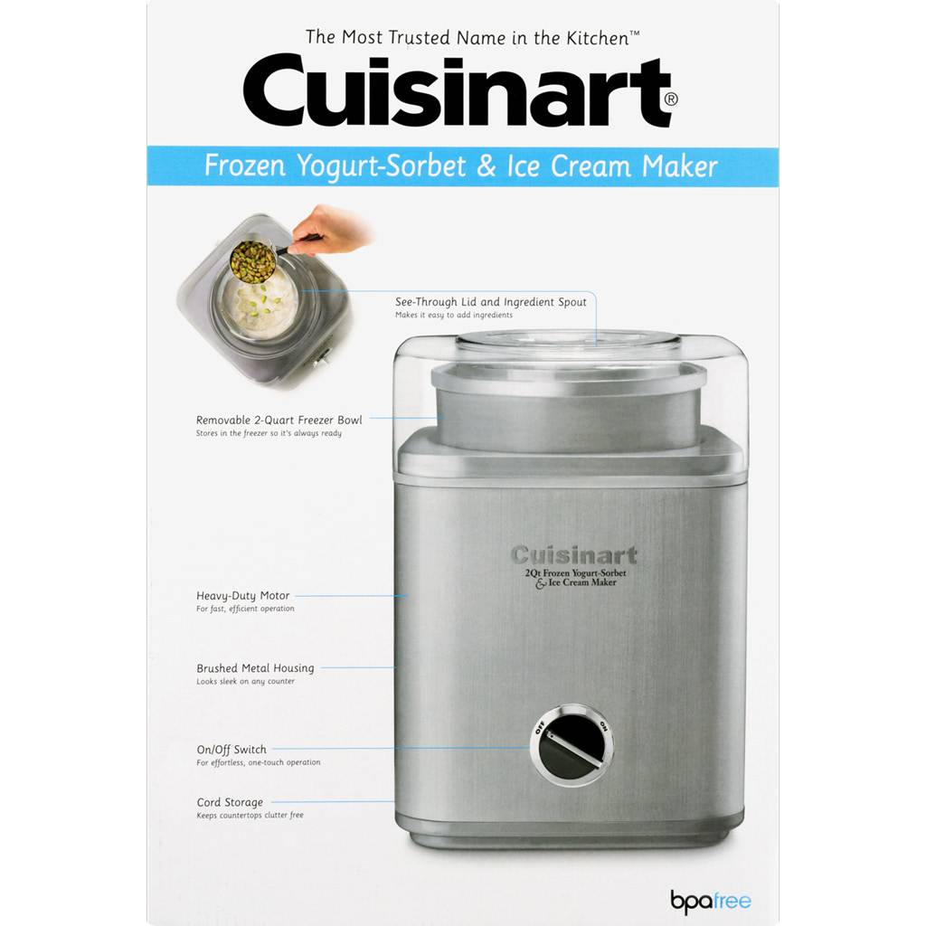ICE-30BCC Pure Indulgence Gelato, Ice Cream and Sorbet Maker - Silver (1 Year Warranty)