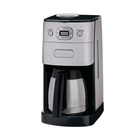DGB-650C 10-Cup Grind and Brew Thermal Automatic Coffeemaker - Silver/Black (Manufacturer Refurbished / 6 Month Warranty)
