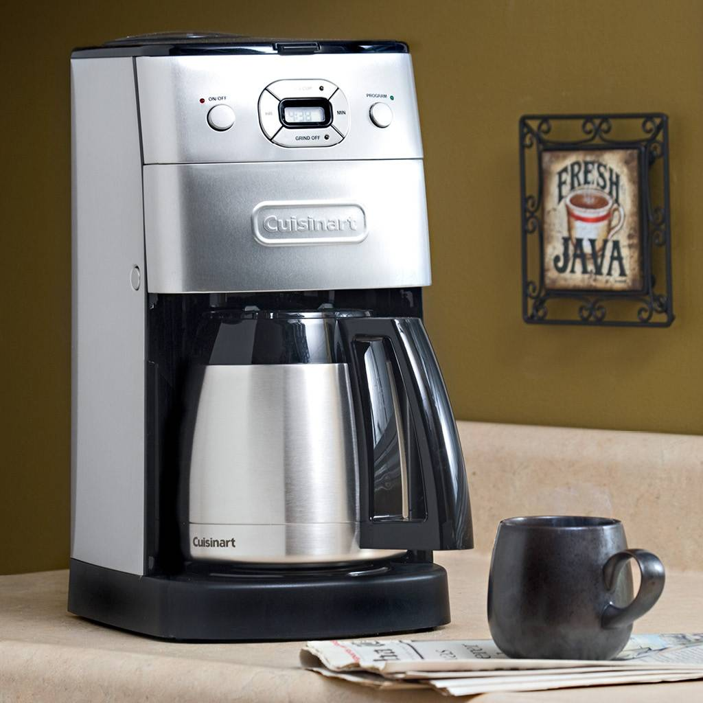 DGB-650C 10-Cup Grind and Brew Thermal Automatic Coffeemaker - Silver/Black (1 Year Warranty)