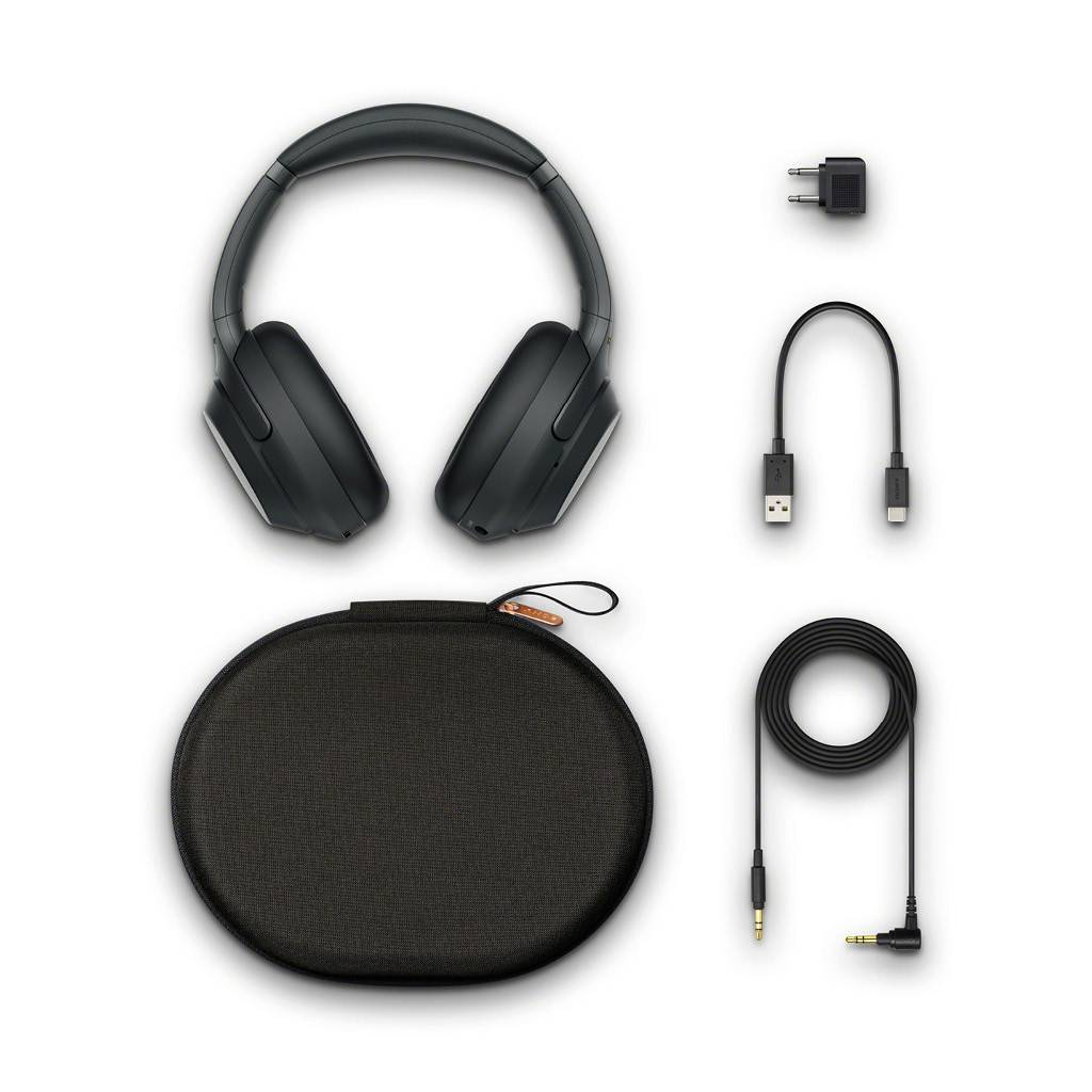 Sony WH-1000XM3 Wireless Over-Ear Noise Cancelling Bluetooth Headphones  with Google Assistant - Black