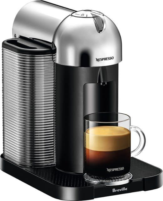 Nespresso Vertuo Coffee and Espresso Machine by De'Longhi - Silver