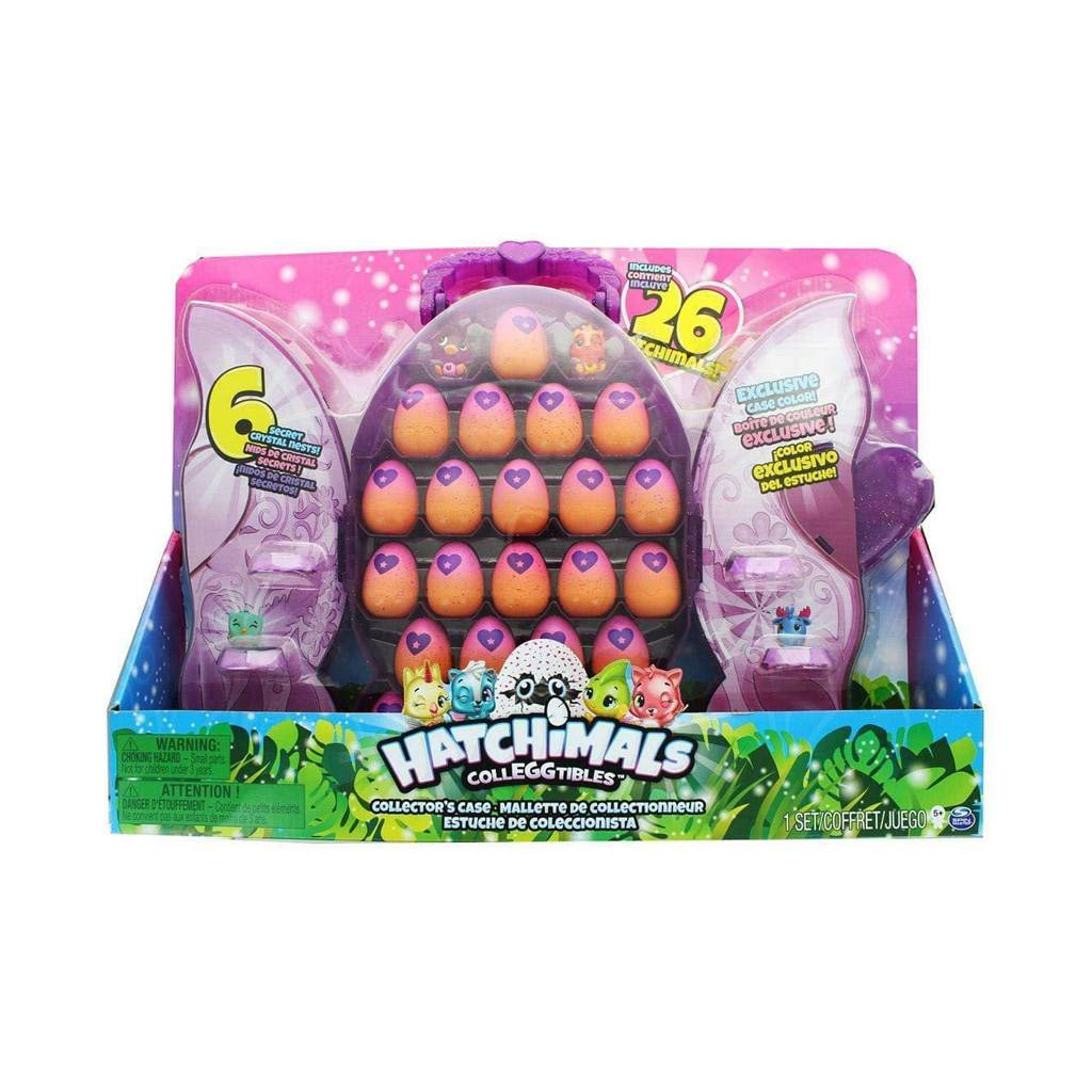 Hatchimals CollEGGtible Purple Deluxe Collector's Case with 26 CollEGGtibles
