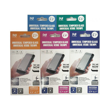 PDI Universal Tempered Glass Screen Protector - All Screen Sizes