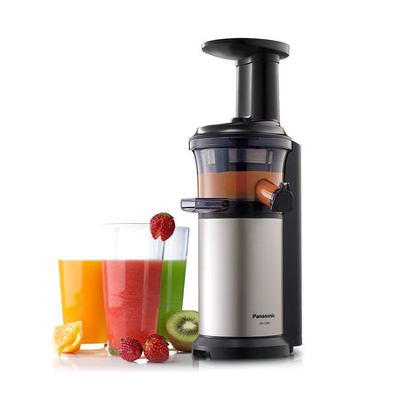 Panasonic  MJ-L500 Slow Juicer with Frozen Treat Attachment - Black / Silver