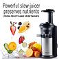 Panasonic  MJ-L500 Slow Juicer with Frozen Treat Attachment - Black / Silver