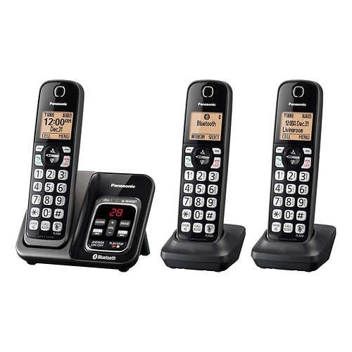 Panasonic KX-TG273CSK Digital Cordless Phone with Answering Machine and Link2Cell Featur