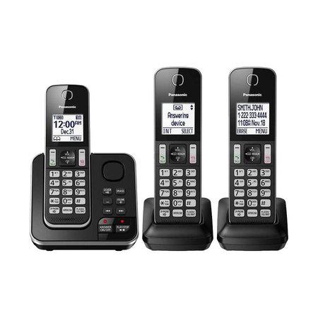 Panasonic KX-TG163C & 3 Handsets DECT 6.0 Digital Phone System