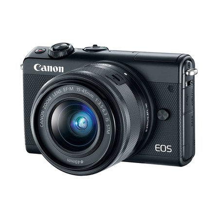 Canon EOS M100 24.2MP Mirrorless Camera with EF-M 15-45 mm Lens - Black