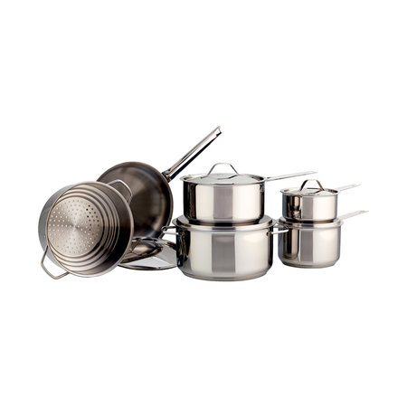 Meyer Classic Series Stainless Steel 11-Piece Cookware Set