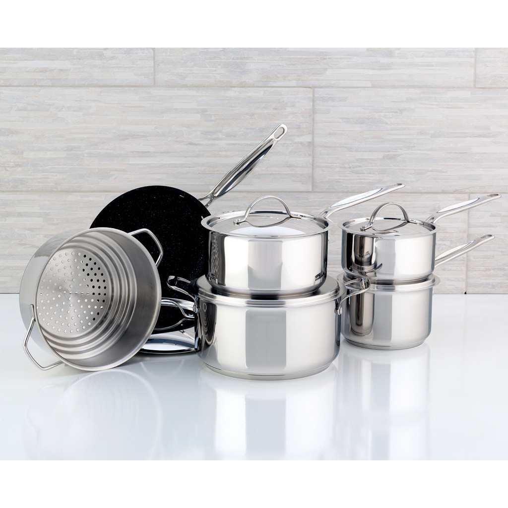 Meyer Confederation Stainless Steel 11-Piece Cookware Set