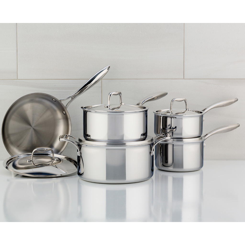 Meyer SuperSteel Tri-Ply 10-Piece Cookware Set