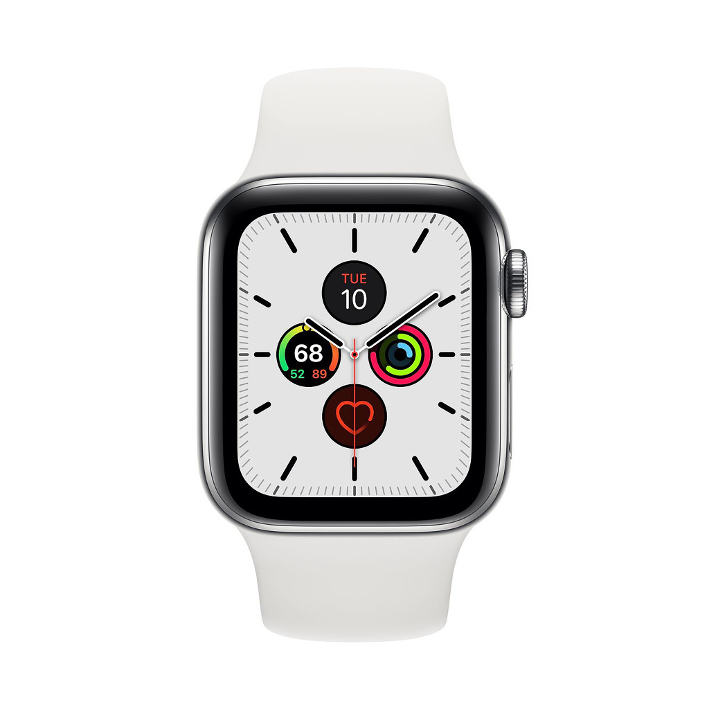 Watch Series 5 44mm GPS Silver with White Sport Band