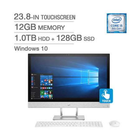 HP R159C All-in-One Desktop / Intel Core i5-8400T (2.8GHz) / 12GB Memory / 1.0TB HD + 128GB SSD / 23.8-in TouchScreen / Windows 10