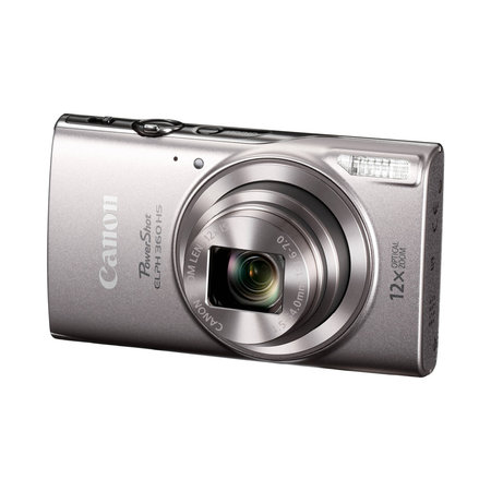 Canon Powershot ELPH 360 HS 20.2MP 12x Optical Zoom Digital Camera - Silver