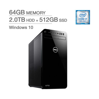 Dell XPS 8930-733BLK-PUS Intel Core i7-9700 / 64GB Memory / 512GB SSD  + 2TB HD / Windows 10
