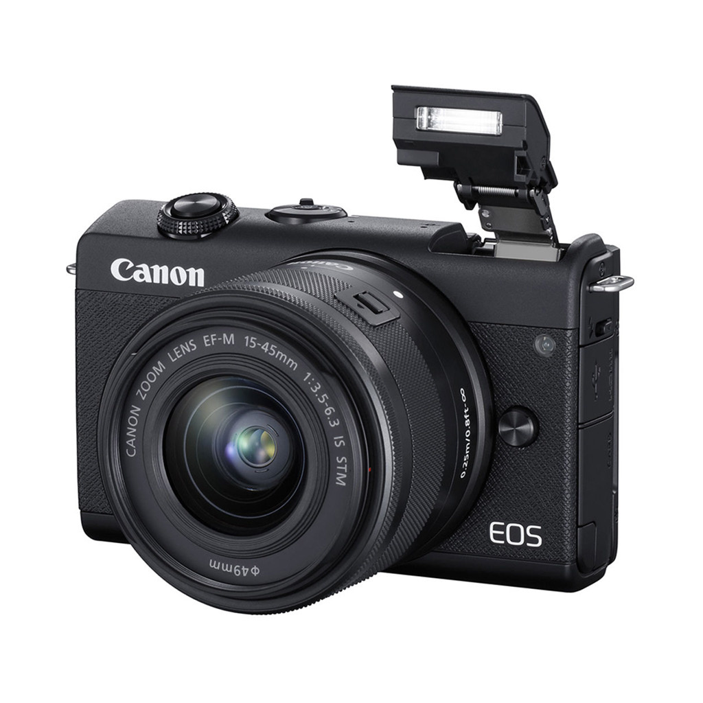 Canon EOS M200 24.1MP Mirrorless Camera with 15-45mm Lens - Black