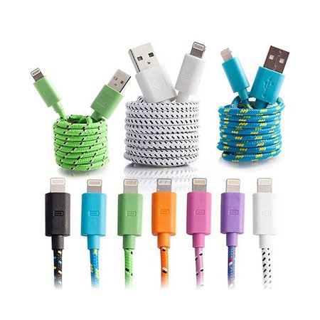 10ft Lightning Braided Charge + Sync Cable for Apple iPhone / iPad