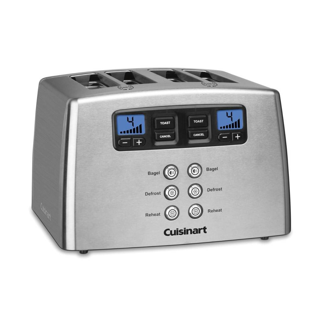 CPT-440C 4-Slice Touch To Toast Leverless Toaster / Silver (Manufacturer Refurbished / 6 Month Warranty)