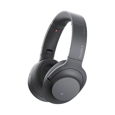 WH-H900N Over-Ear Noise Cancelling Bluetooth Headphones - Black