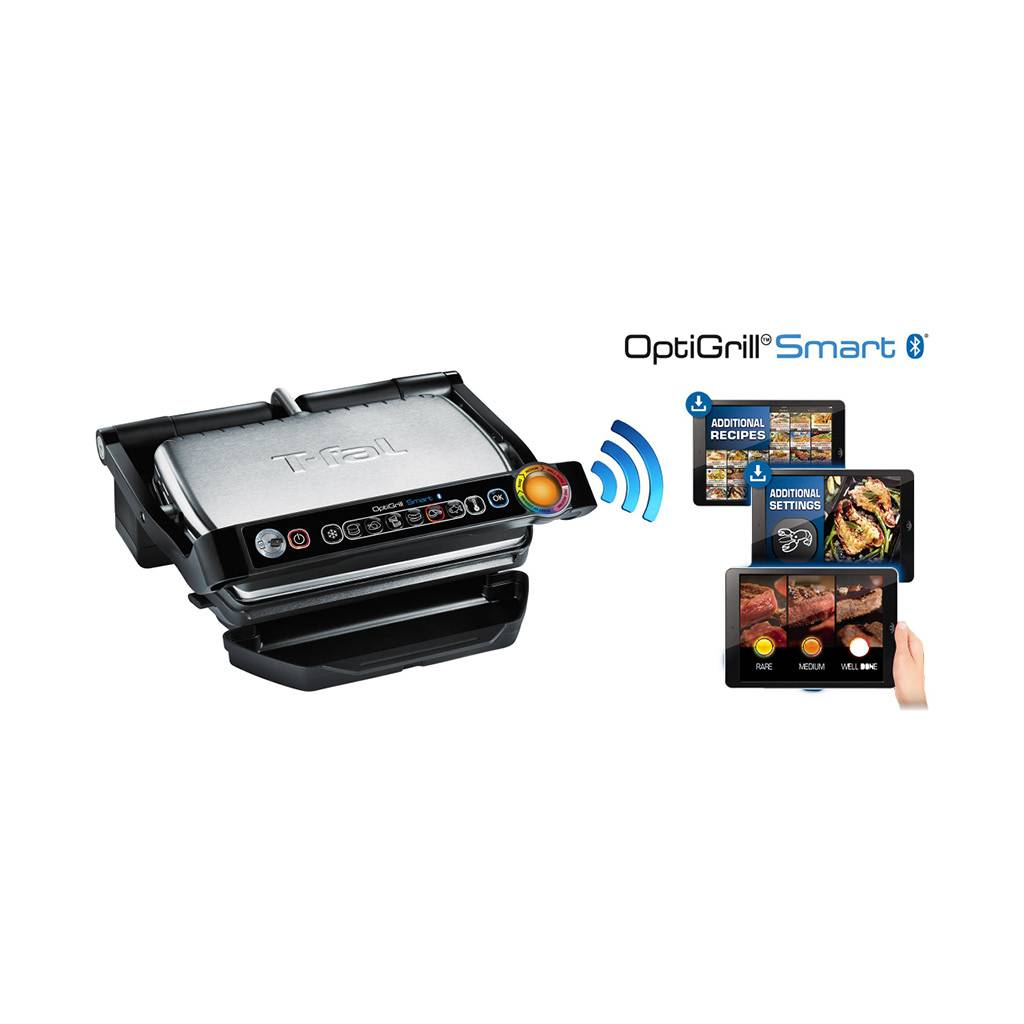 OptiGrill + Stainless Steel Electric Grill GC712D54 - Black