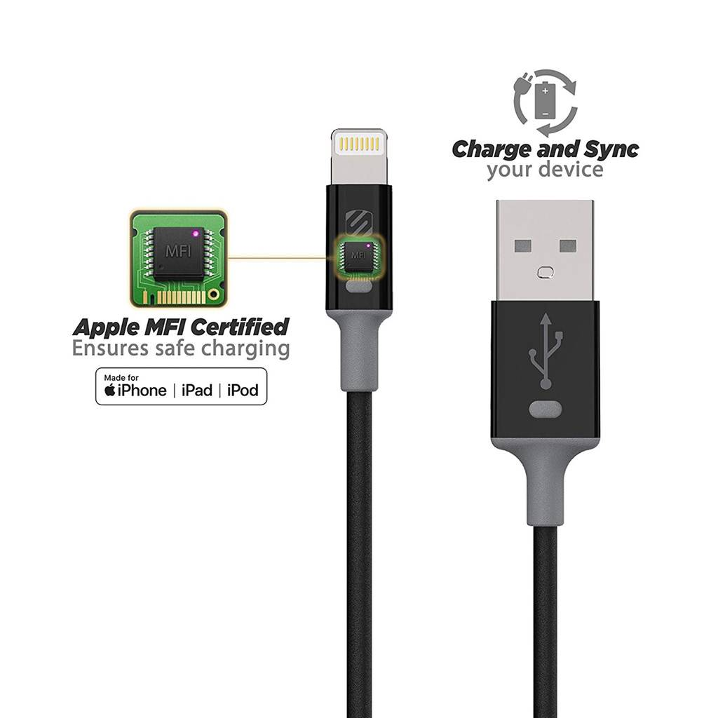 Scosche StrikeLine II 3ft Lightning Charger & Sync Cable for Apple iPhone/iPad - Blue