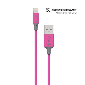 Scosche StrikeLine II 3ft Lightning Charger & Sync Cable for Apple iPhone/iPad - Pink