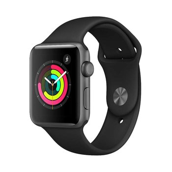 Watch Series 3 42mm GPS Space Grey with Grey Sport Band + Wall Charger