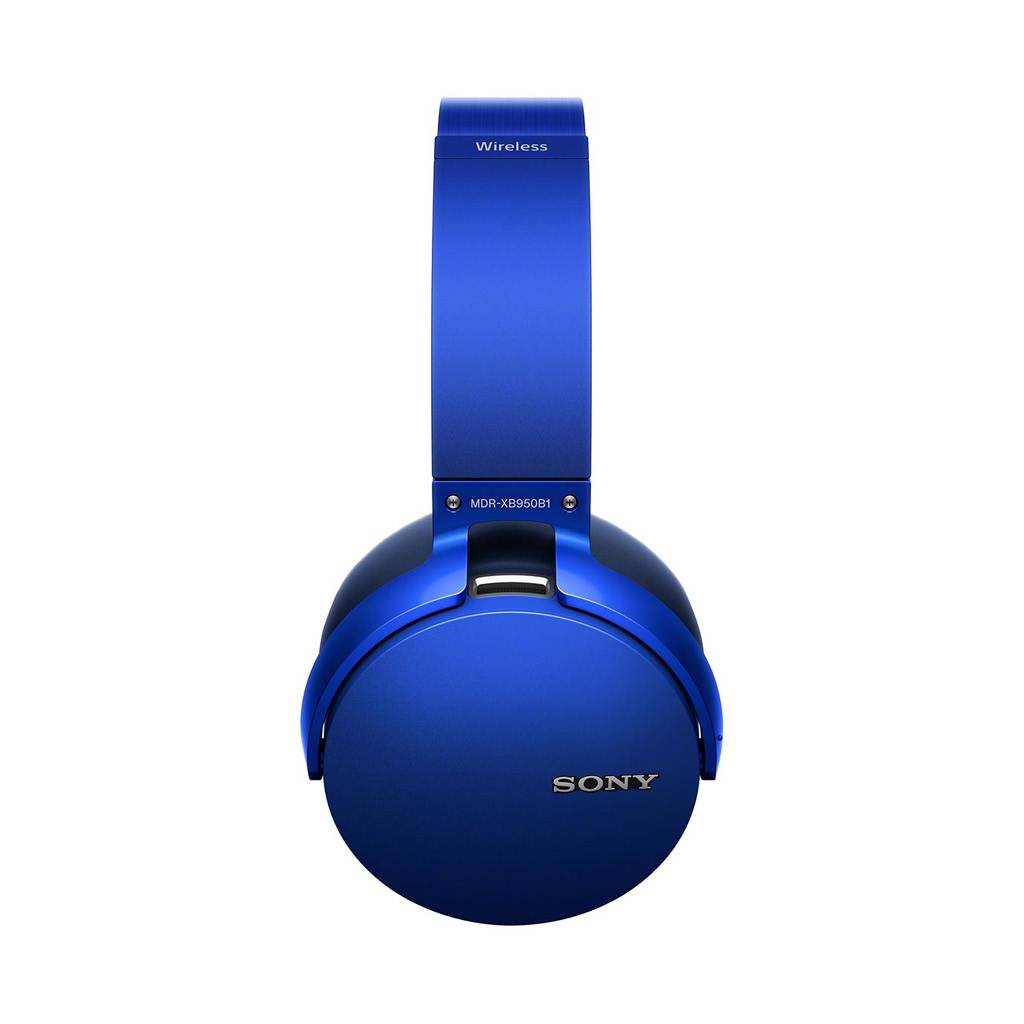 MDR-XB950B1 Over-Ear Wireless Headphones with Mic - Blue