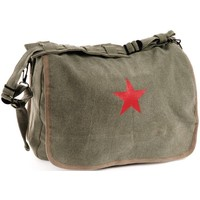 World Famous Red Star Shoulder Bag (Olive Drab) #182