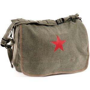World Famous Red Star Shoulder Bag (Olive Drab) #182