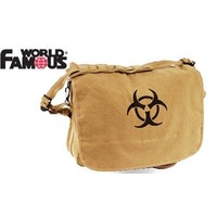 World Famous World Famous Bio-Hazard Shoulder Bag (Tan) #181