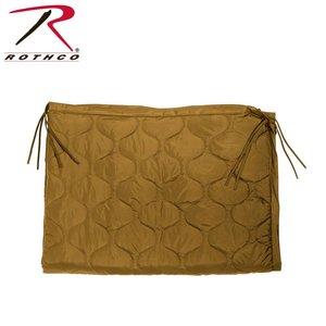 Rothco Rothco GI Style Poncho Liner / Ranger Blanket  (w/ Ties) - Coyote