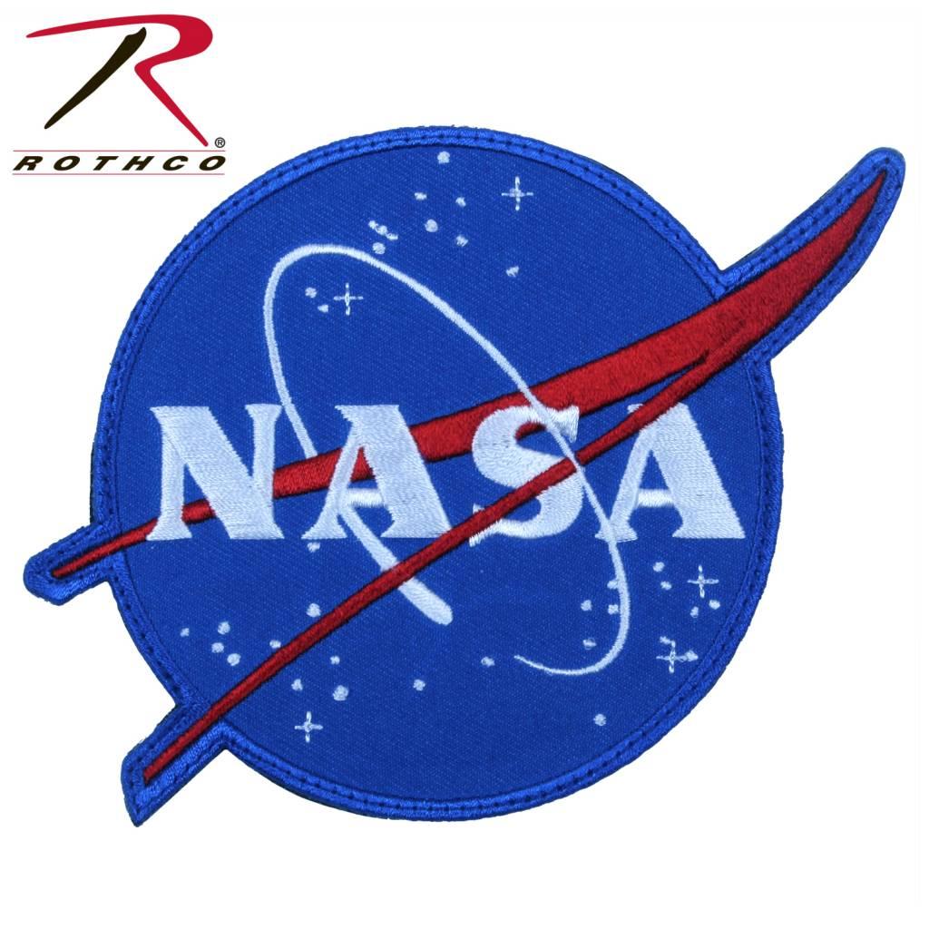 Nasa Logo Patch Hook Back Full Color