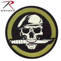 Poco Miltary Special Forces Skull Patch (Velcro) Green / Black