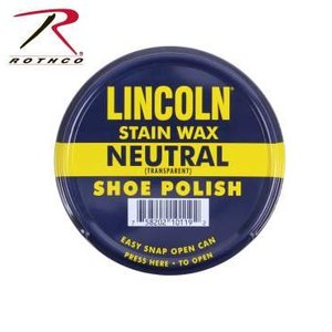 Lincoln Stain Wax Shoe Polish - Neutral