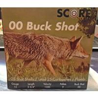 """Score Score 12 Gauge 2-3/4"""" OO Buckshot (25 Shells)"""