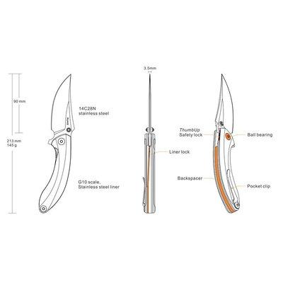 Ruike Ruike P155-B Folding Knife (Black Grey)