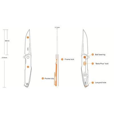 Ruike Ruike P108-SF Folding Knife (Steel)