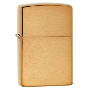 Zippo USA Vintage Brushed Finish Brass