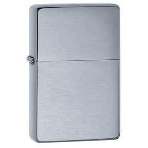 Zippo USA Vintage Brushed Finished Chrome