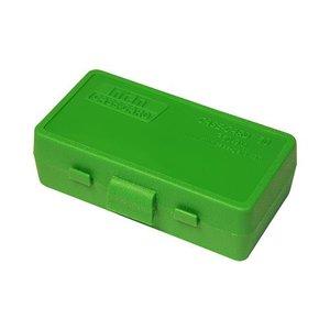 MTM MTM 9mm 50 Round Ammo Box (Green Plastic) P50-9M-10
