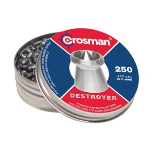 Crosman .177 Cal Destroyer Pellets (250 Count Tin) DS177