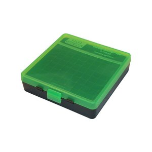 MTM MTM .40 /.45/10mm 100 Round Ammo Box (Green/Black) P-100-45-16T