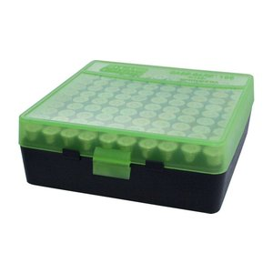 MTM MTM .38/.357 100 Round Ammo Box (Green/Black) P-100-3-16T