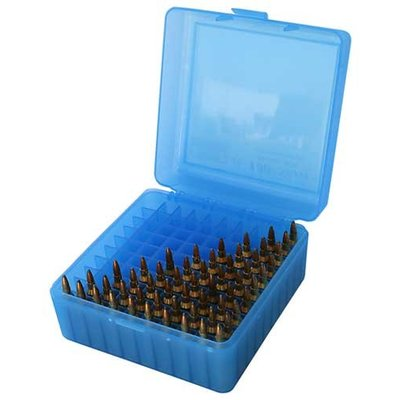 MTM MTM Rifle (.220, 22-25, .308) 100 Round Ammo Box (Blue) RM-100-24