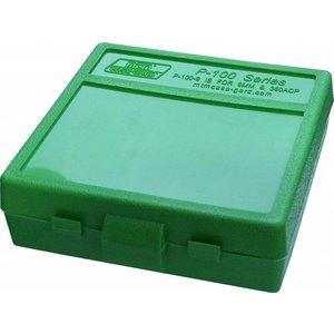 MTM MTM 9mm 100 Round Ammo Box (Green) P-100-9-10