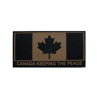Tactical Innovations Canada Flag (Tan) Keeping The Peace (PVC)